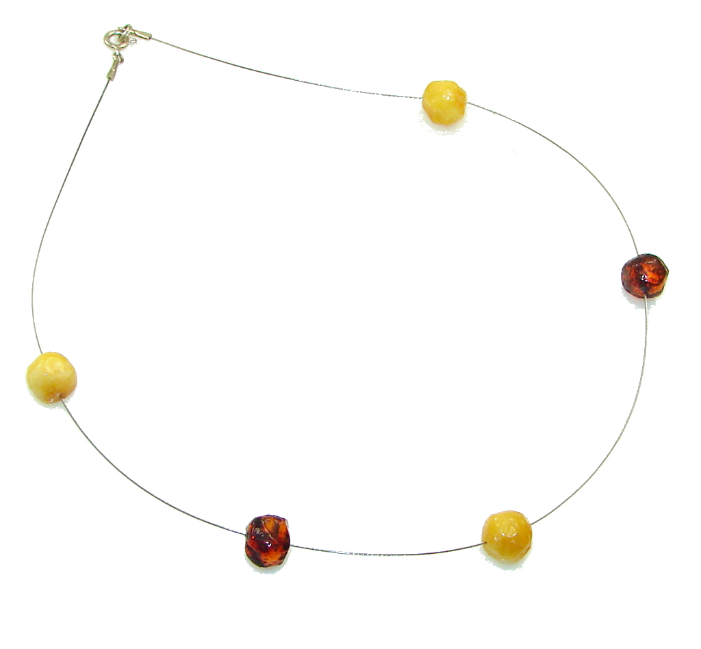 Perfect! Polish Amber Sterling Silver necklace