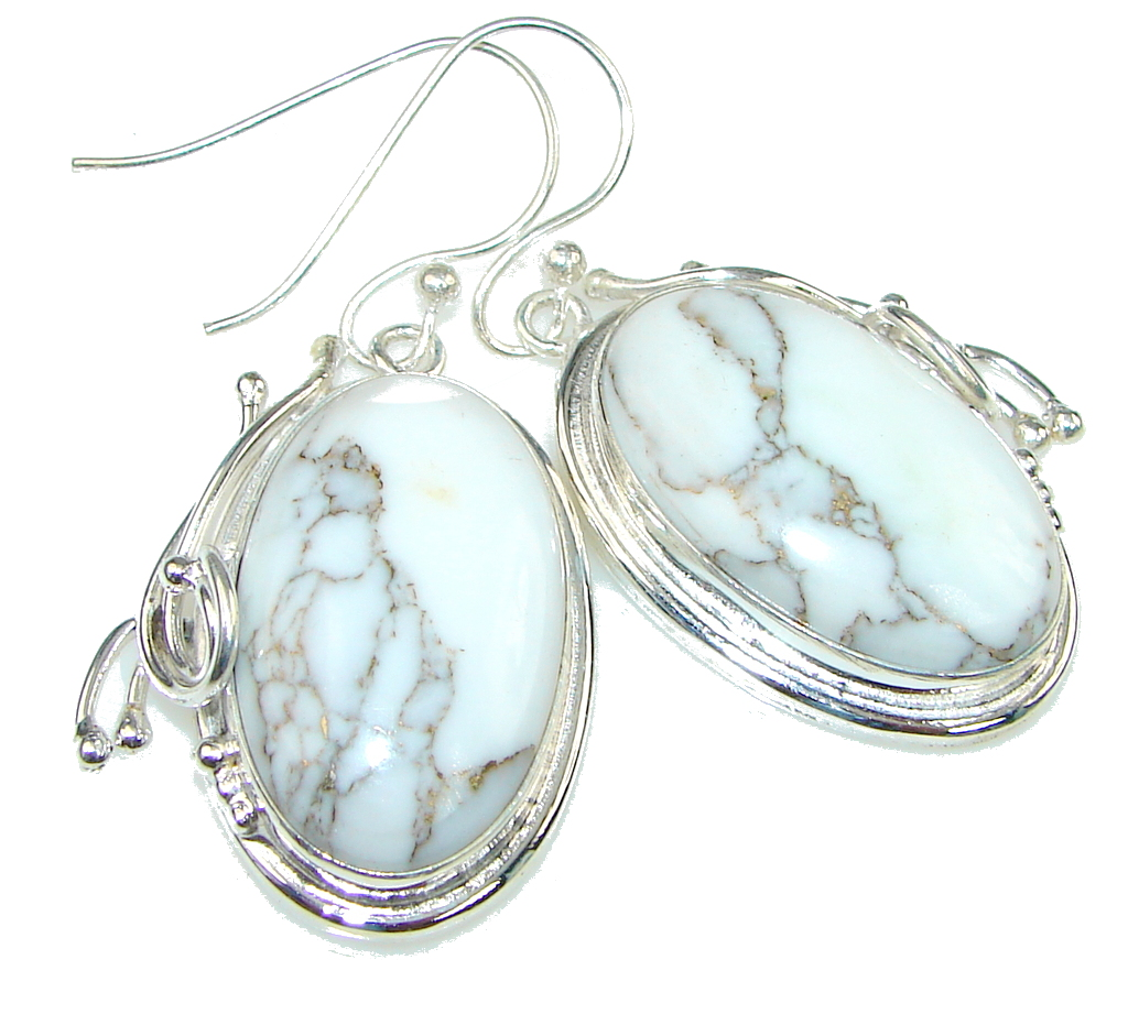 Exclusive! White Howlite Sterling Silver earrings