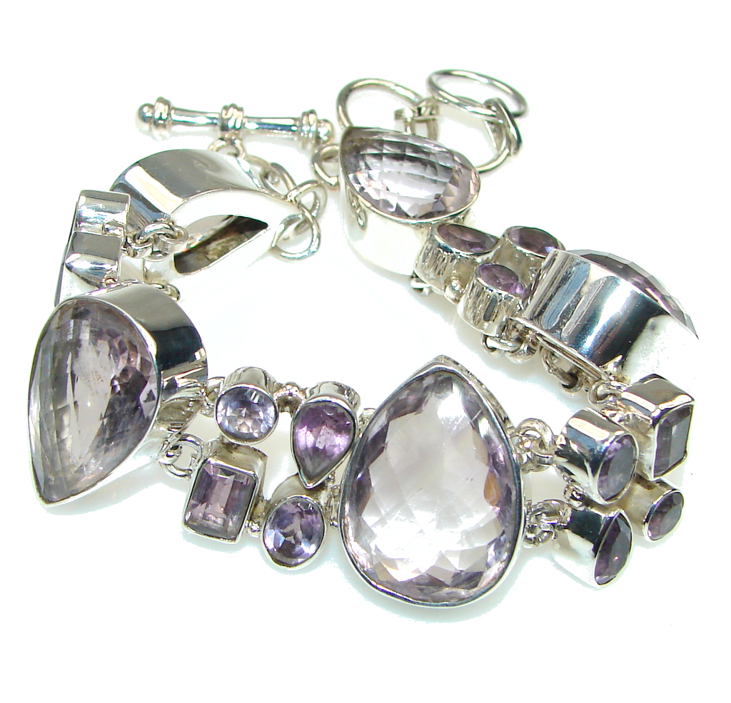 Lavender Dreams! Purple Amethyst Sterling Silver Bracelet