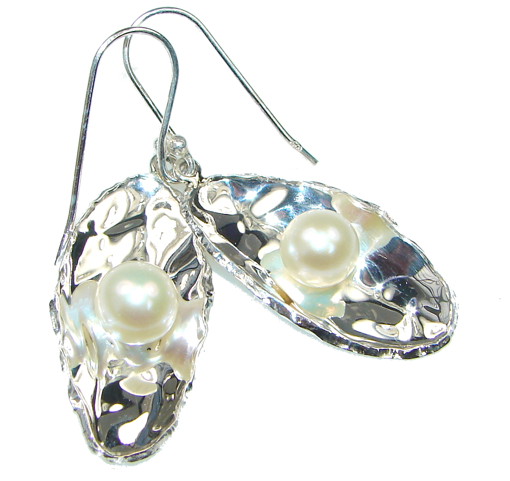 Delicate! Fresh Water Pearl Sterling Silver Earrings