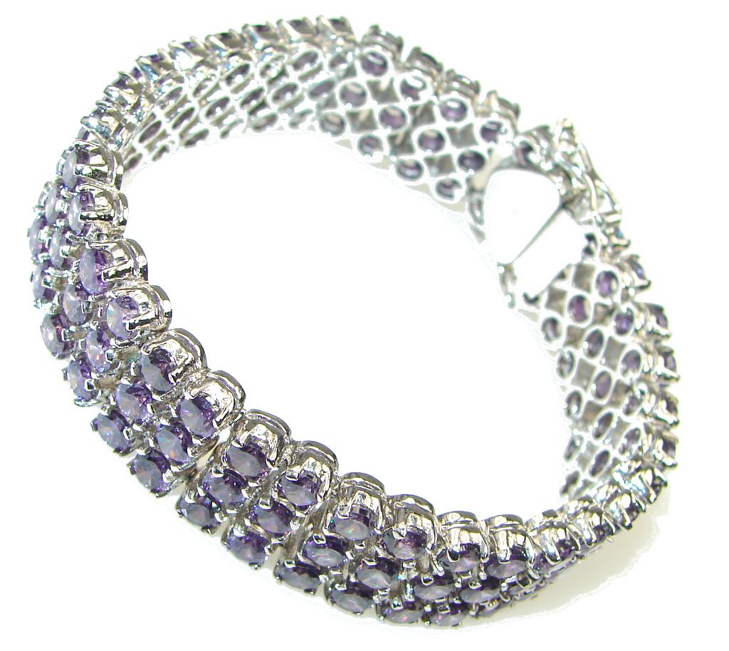 Love Attraction! Created Purple Amethyst Sterling Silver Bracelet