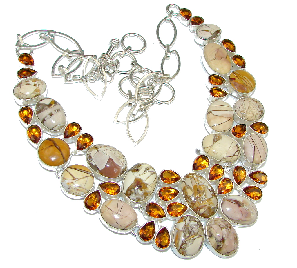 Aura Of Beauty! Burro Creek Jasper Sterling Silver necklace