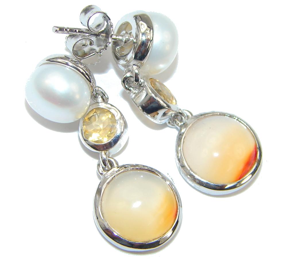 Delicate! White Fresh Water Pearl Sterling Silver earrings