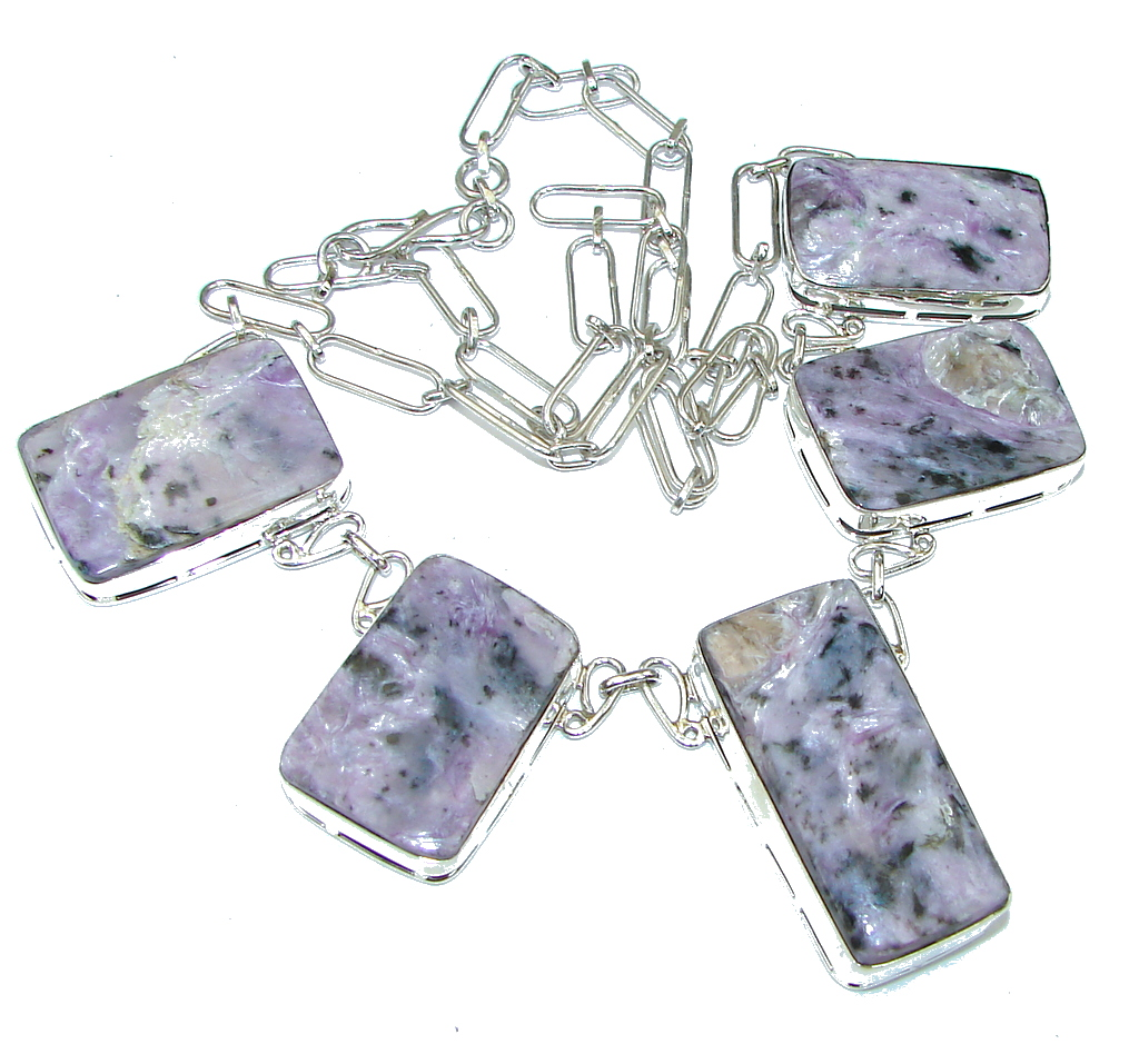 Just Perfect! Purple Charoite Sterling Silver Necklace