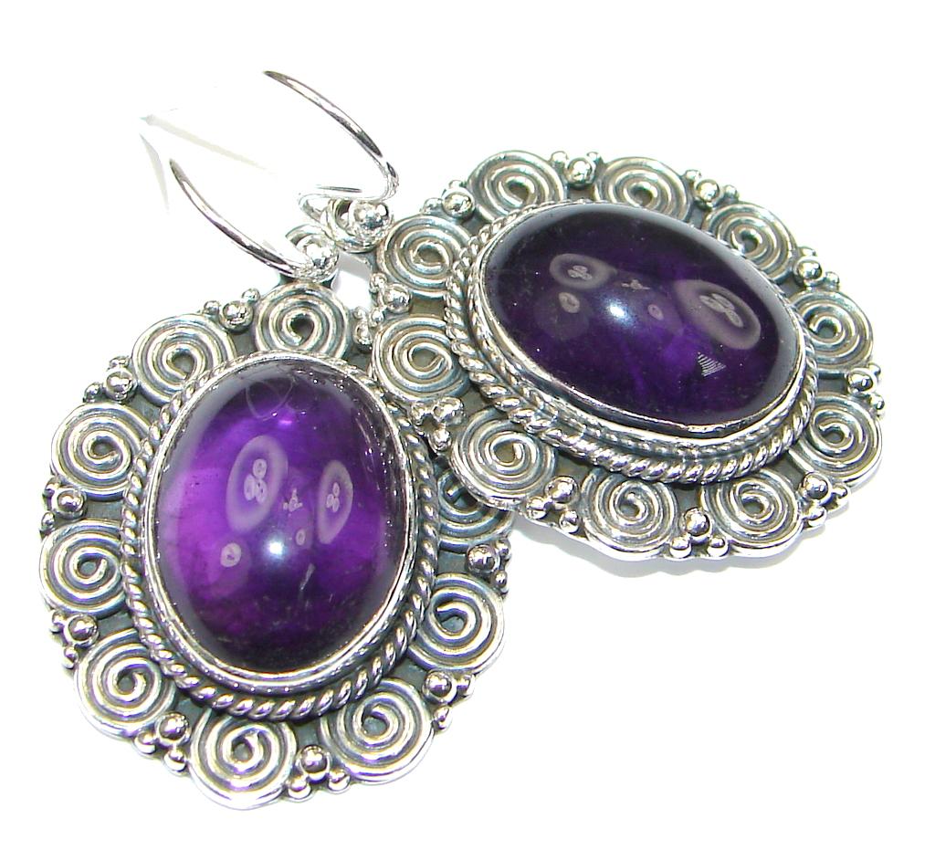 Fabulous! Purple Amethyst Sterling Silver earrings