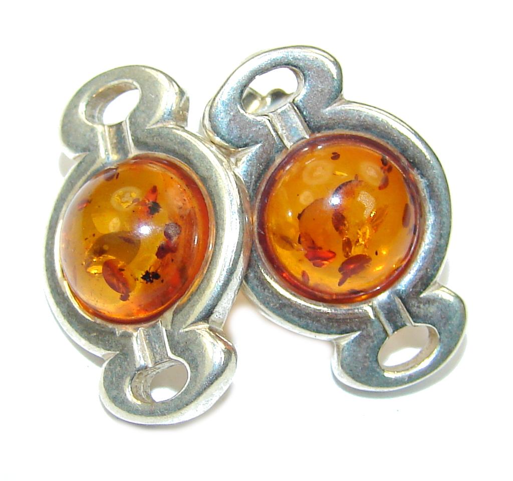 Delicate Copal Amber Sterling Silver earrings