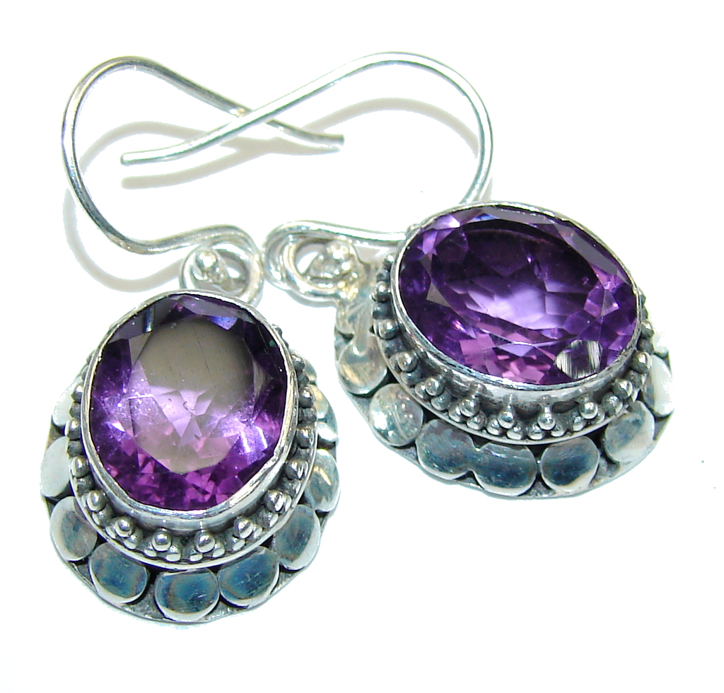 Lavender Dream! Purple Amethyst Sterling Silver earrings