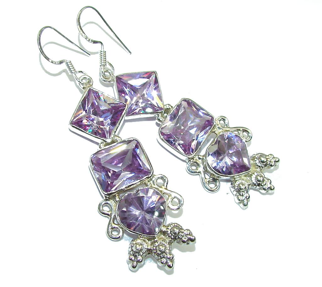Delicate!! Lilac Quartz Sterling Silver Earrings