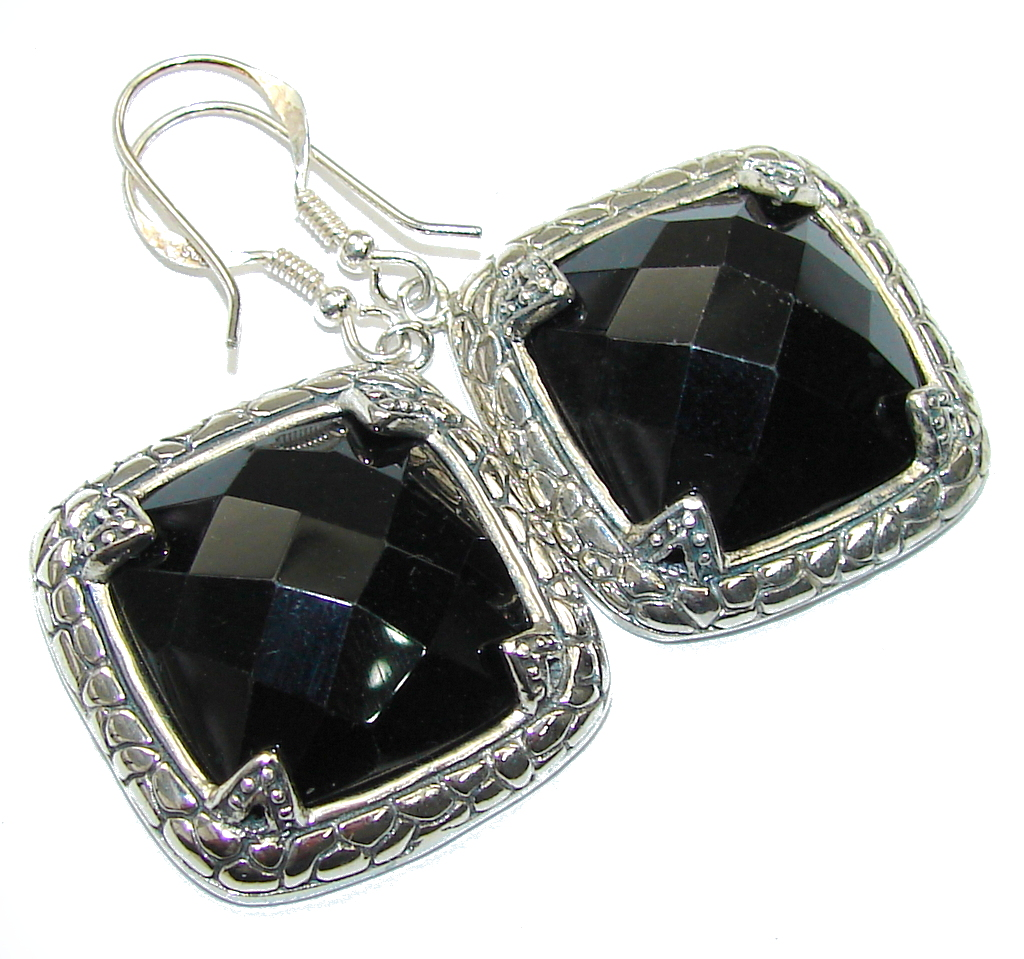Fantastic Black Onyx Sterling Silver earrings