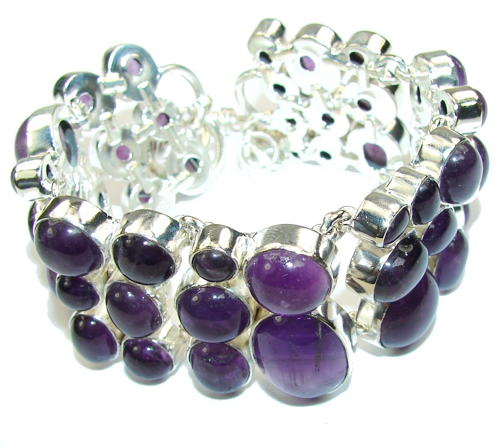 Real Treasure! AAA Purple Amethyst Sterling Silver Bracelet