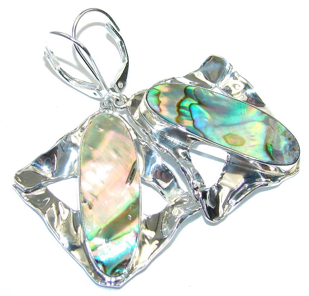 Passion Light Rainbow Abalone Sterling Silver earrings