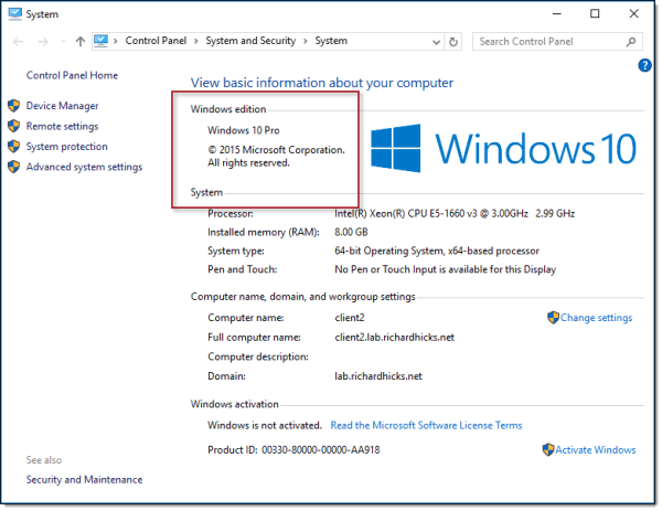 DirectAccess and Windows 10 Professional