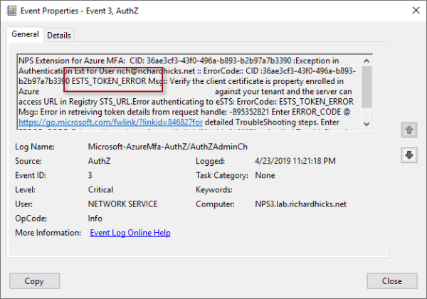 Always On VPN and Azure MFA ESTS Token Error