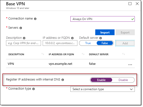 Always On VPN DNS Registration Update Available