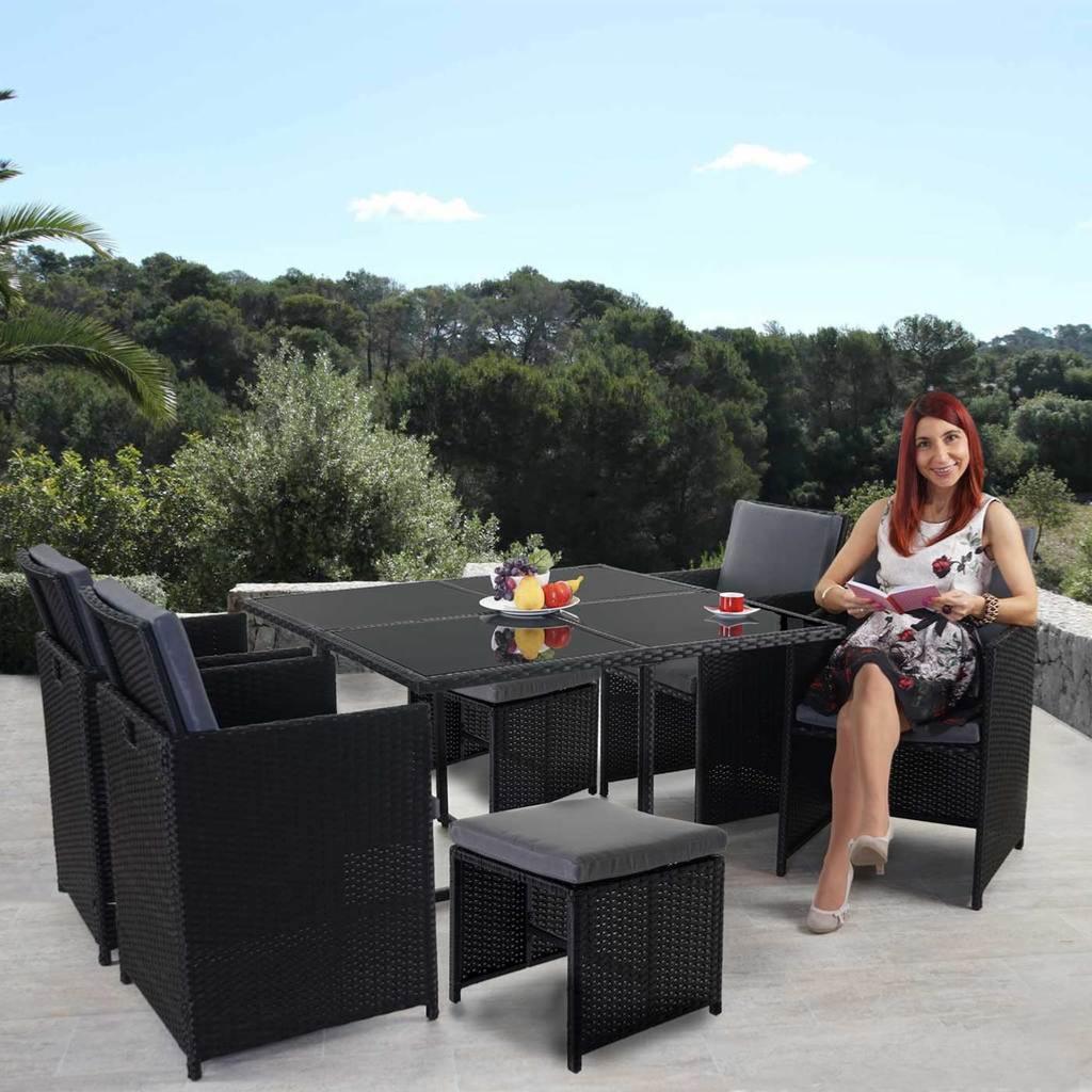 Stunning Table De Jardin En Resine Corfu Gris Anthracite Photos ...