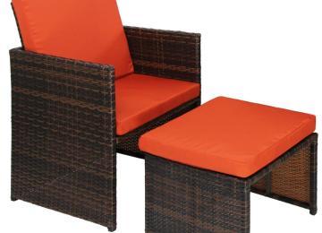 Salon De Jardin Resine Coussin Orange | Salon Duo Bahamas Mokaccino ...