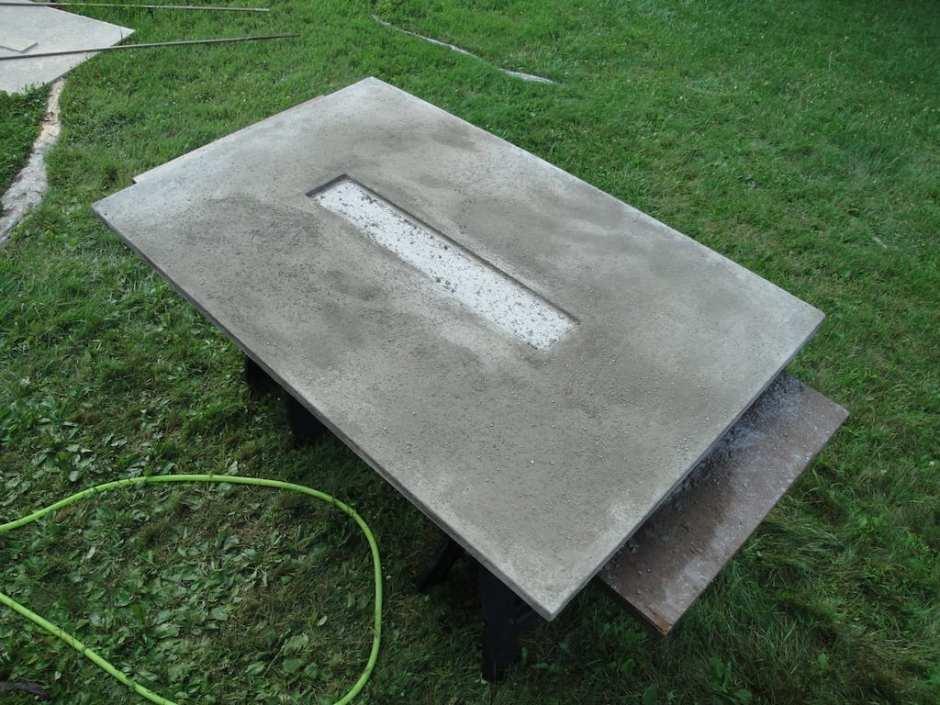 Concrete Table Fire Pit Form