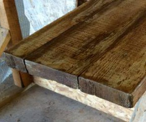 Stamped Concrete stained to look like wood