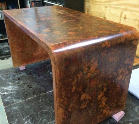 Patina Acid Stain Desk