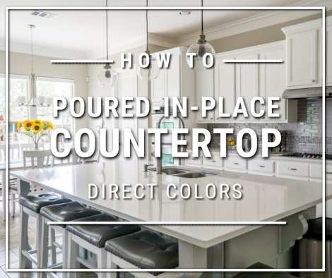 Poured-in-Place White Concrete Countertop