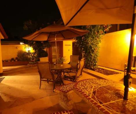 Beach House Integral Color Stucco Night