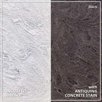 Uncoated Concrete vs Antiquing Concrete Stain