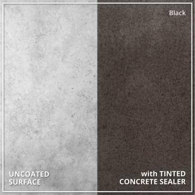Uncoated Concrete vs Tinted Concrete Sealer