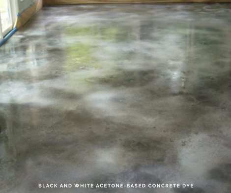 Black and White Acetone-Based Concrete Dye
