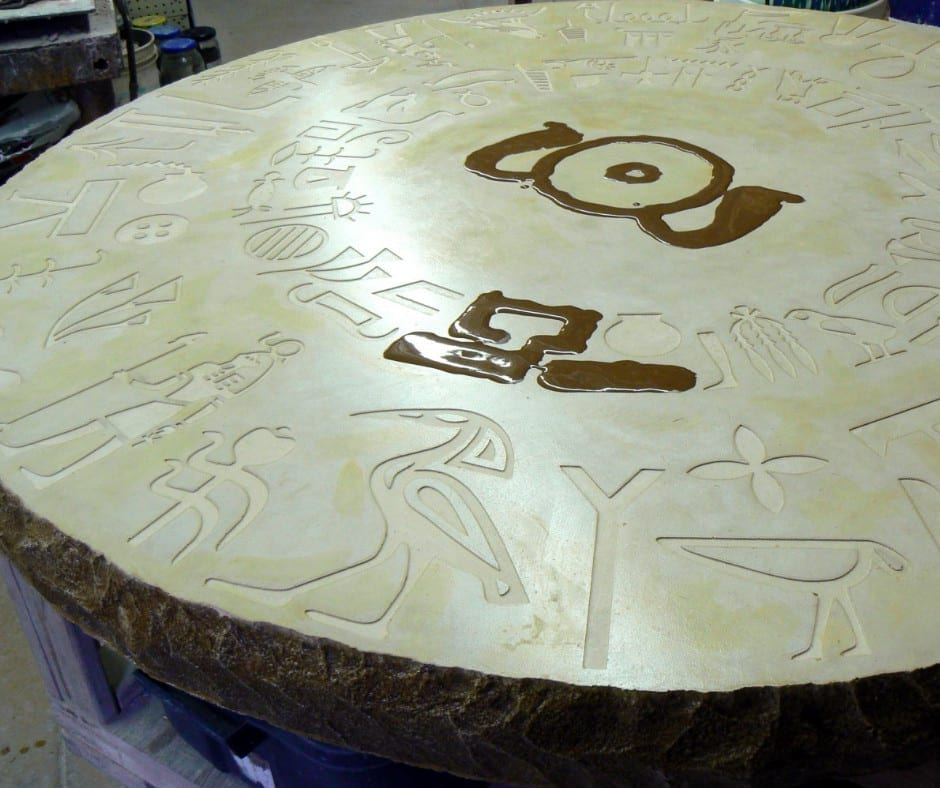 Hand-Crafted Concrete Table Design