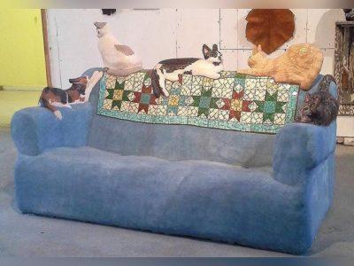 Concrete Cat Couch