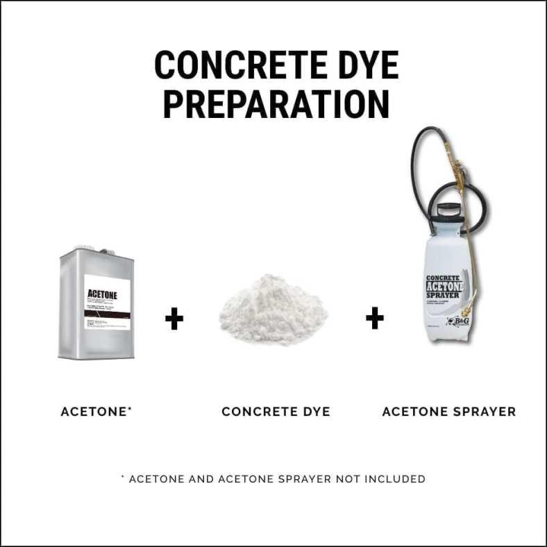 How To Prepare Concrete Dye