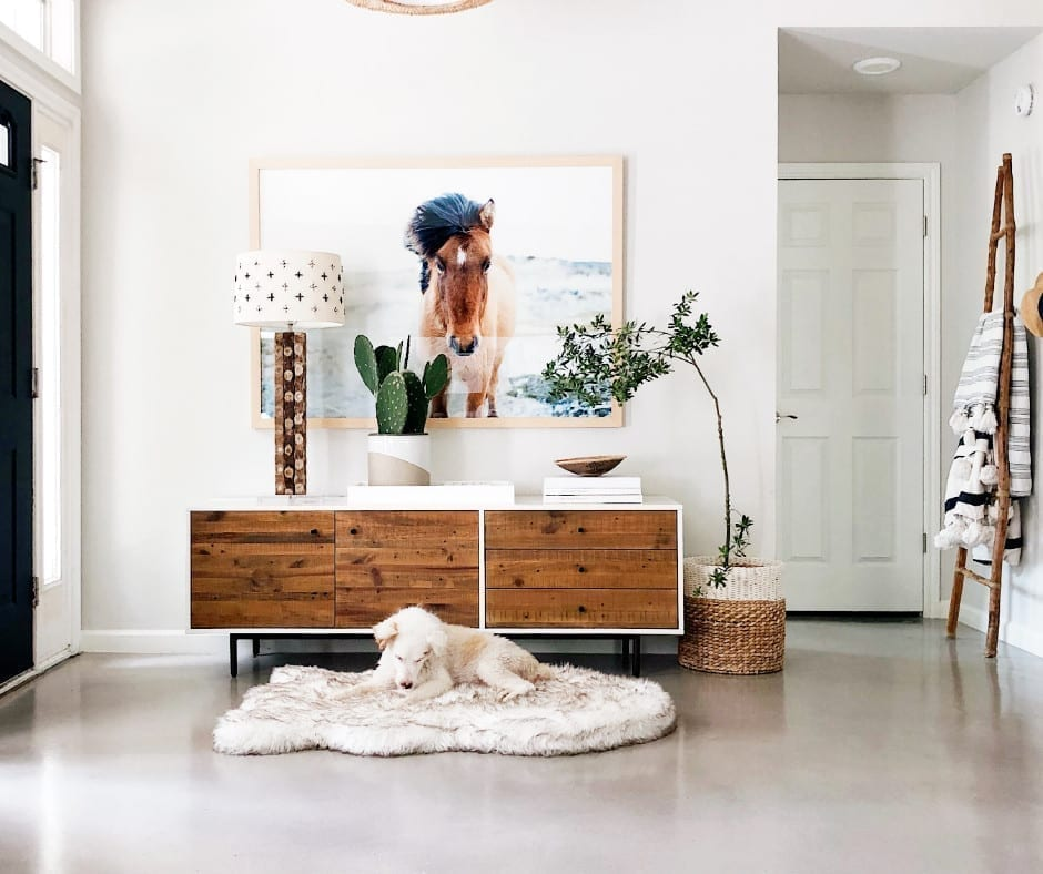 White Stained Concrete Floors