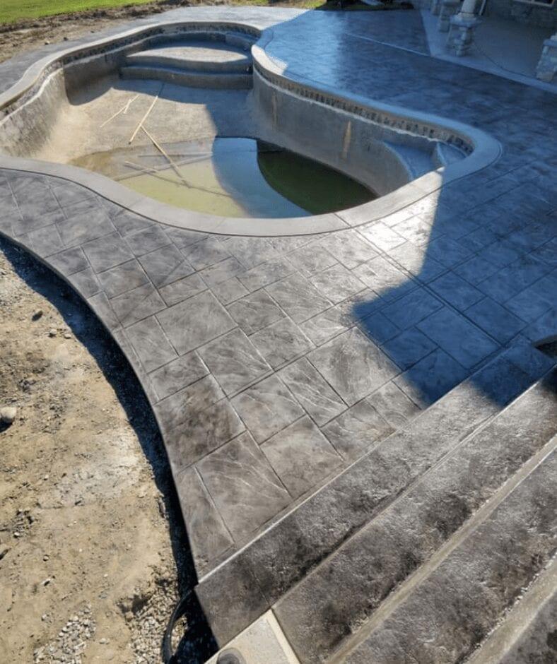 Concrete Pool Deck Color Ideas Inspiration Direct Colors