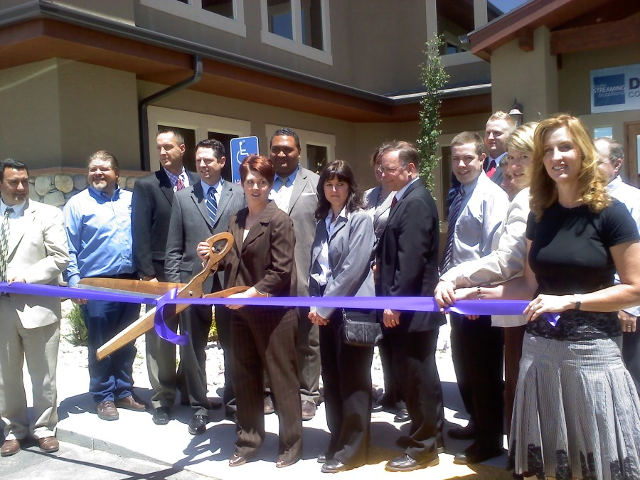 Ribbon cutting for new Direct Communications building in the Ranches.
