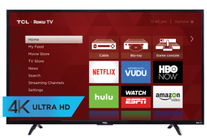 Win a TCL 4K Roku Smart TV