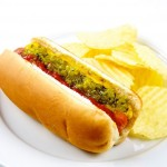 Free hot dog, chips, and a drink will be served for dinner.
