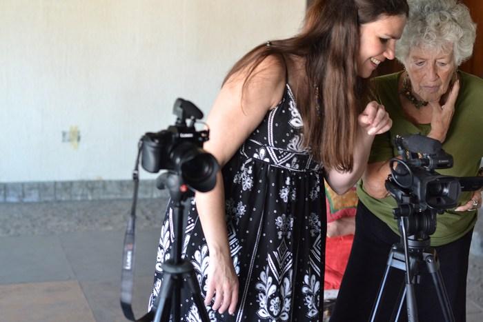 Alexandra Hidalgo with her aunt, Yarima Hidalgo