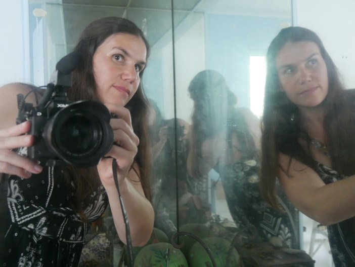 Alexandra Hidalgo filming