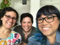 Dawn with Amy Nieto-Cruz and Luann Algoso (right) Producer and Creator of Feminist Nonprofit web series