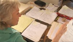 Jennifer surveying letters