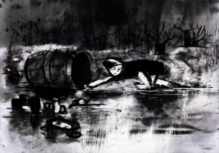 sketch tailor in barrel