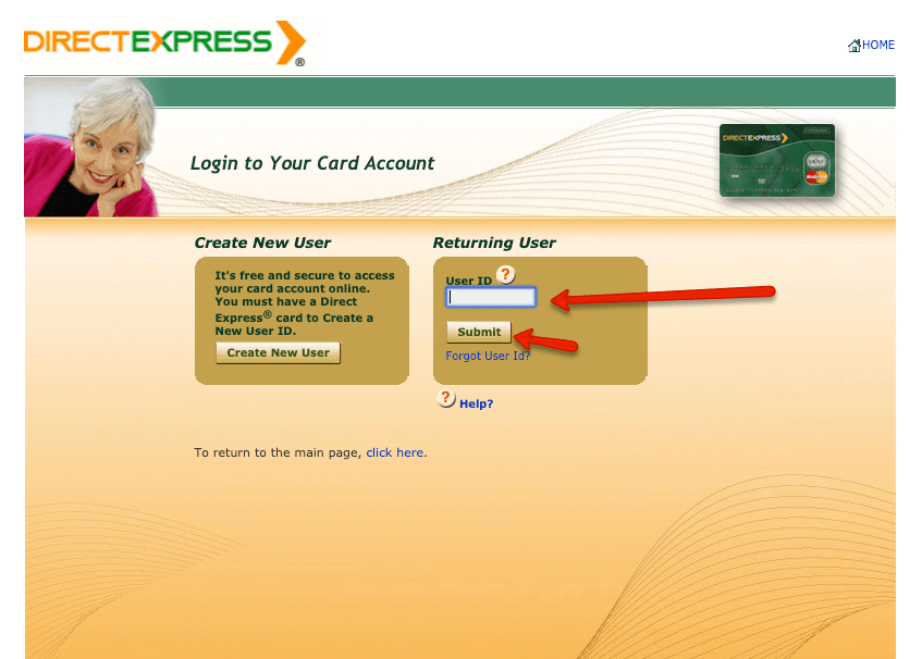 """How to login to Direct Express account 2"""