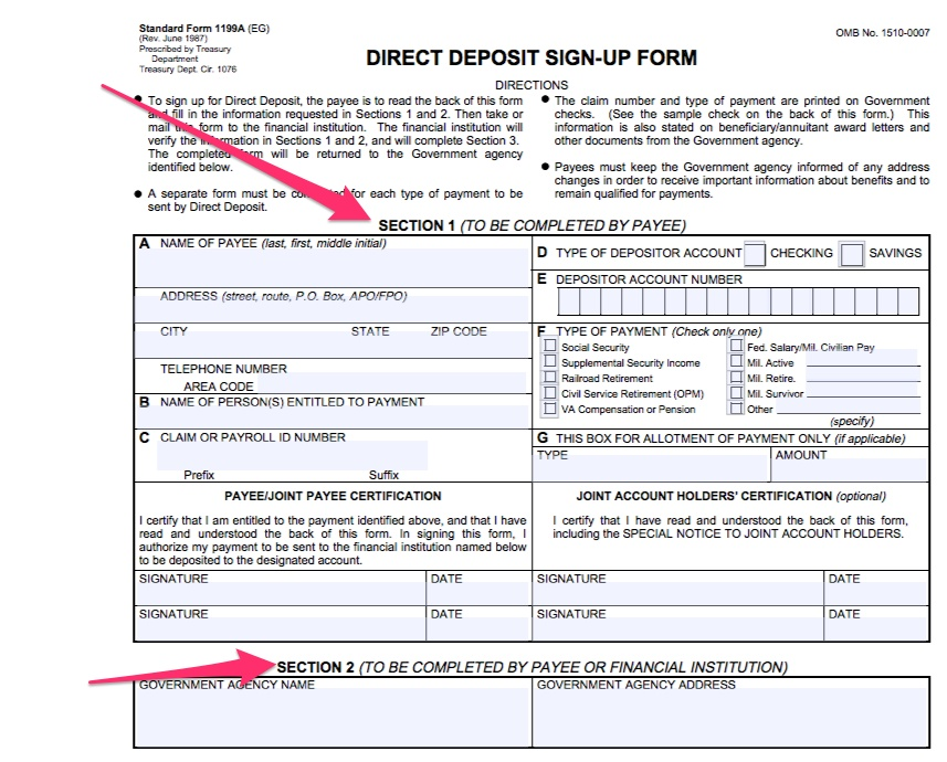 how to download direct deposit pdf form on simplifi