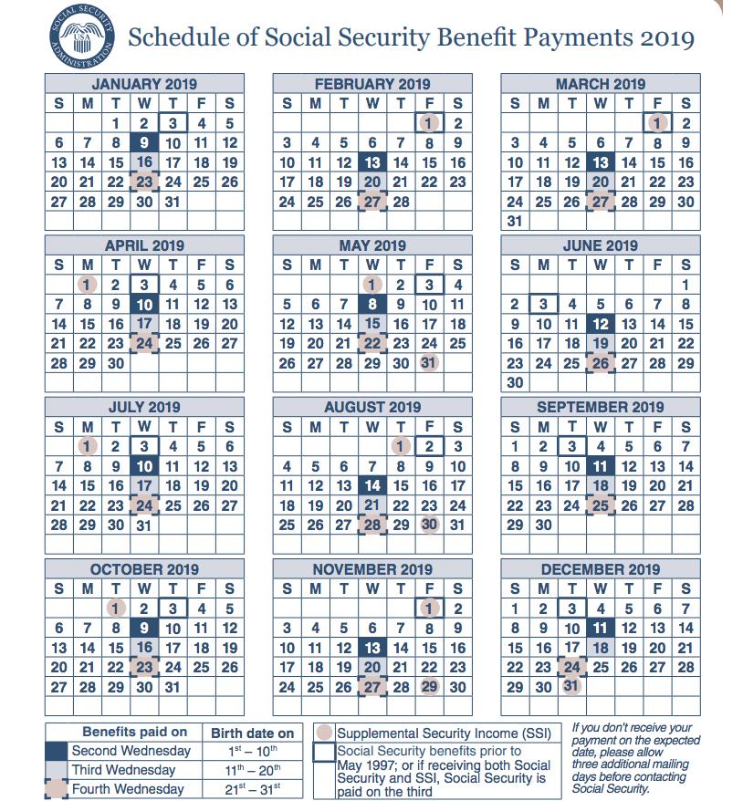 """2019 Disability Calendar"""