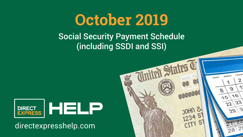"""October 2019 Social Security Payment Schedule"""