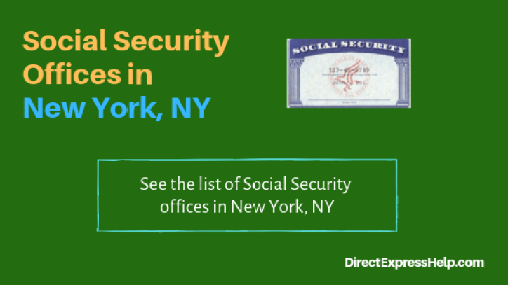 """Social Security Offices in New York, NY"""