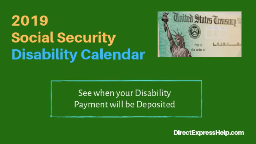 """""""2019 Disability Calendar for Social Security"""""""