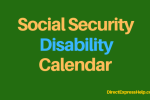 """Social Security Disability Calendar"""