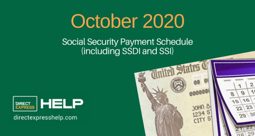 """October 2020 Social Security Payment Schedule"""
