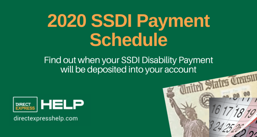 """Here's the SSDI Payment Schedule for 2020"""